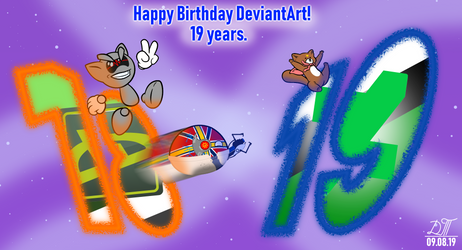 Happy Birthday DeviantArt! 19 years.