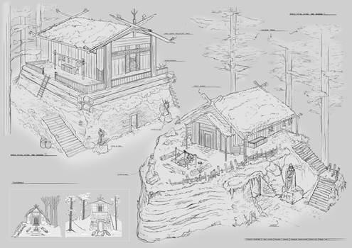 Norse Ritual houses Exterior designs term 02 FZD