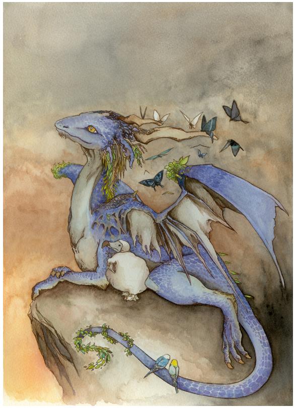 Dodo and Dragon by iwabon