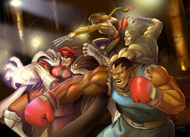 Street Fighter COLLAB by masterchomic