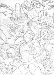 Marvel Cover Sample by masterchomic