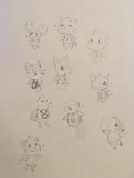 All my ACNL villagers~ uwu