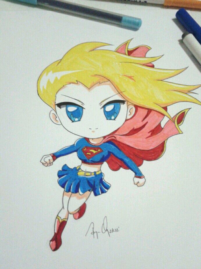 Supergirl Anime Chibi by krnozine on DeviantArt