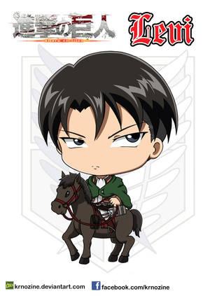 Levi on a horse by krnozine
