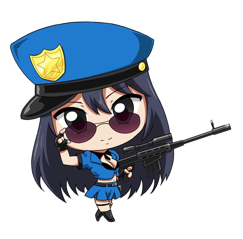 Chibi Officer Caitlyn by krnozine on DeviantArt