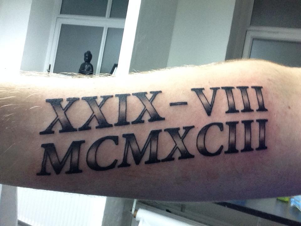 Roman Numeral Tattoo By MrAndersIversen