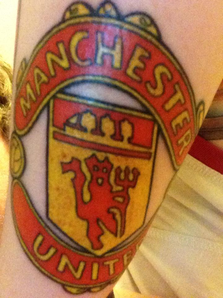 Manchester united tattoo by mrandersiversen on deviantart for Leeds united tattoos