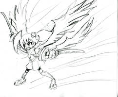 Ayame: Saber Wing sketch by Armonsterz