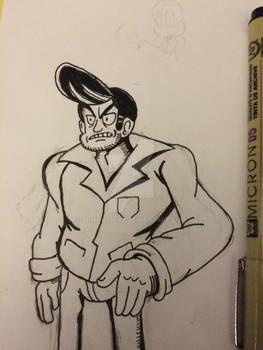 Pompadour guy doodle
