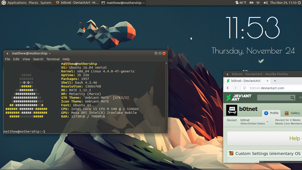 Keeping it simple (Linux Desktop) by b0tnet