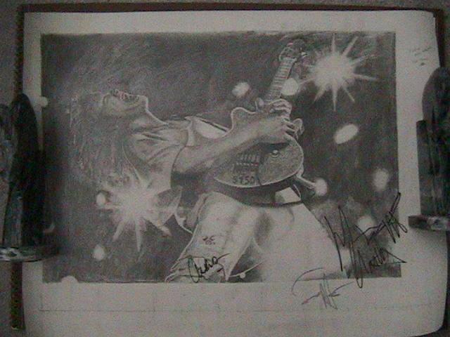 Eddie Van Halen Signed by chouxchou