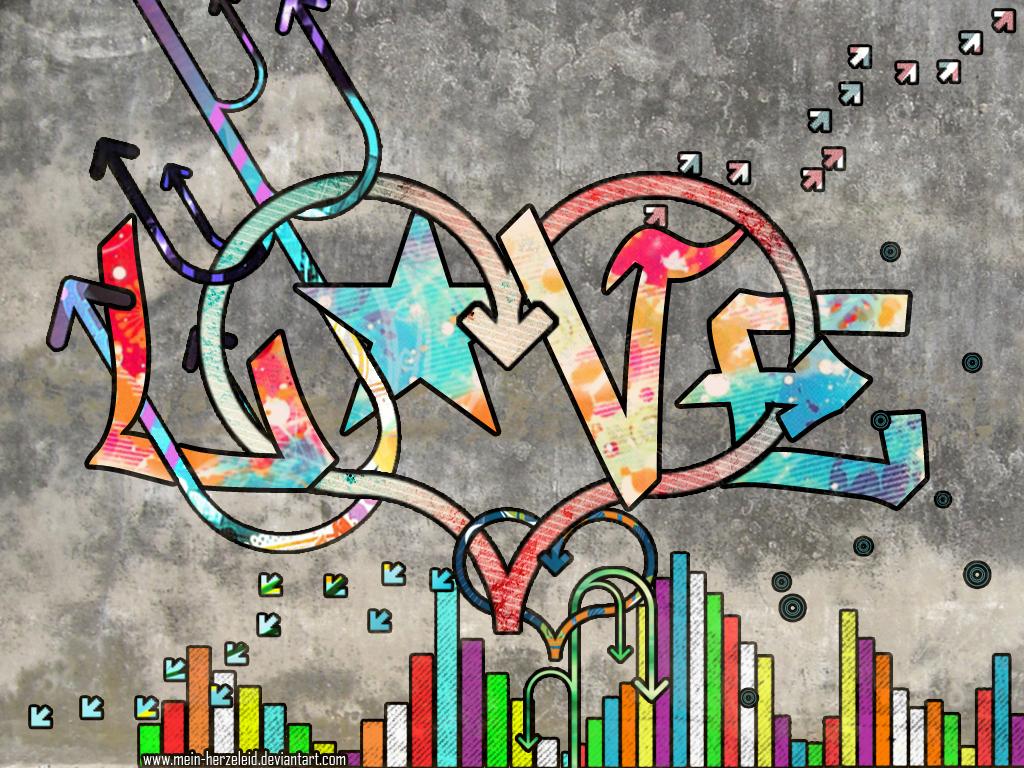 Love graffiti by mein herzeleid