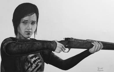 Ellie from The Last of Us realistic drawing