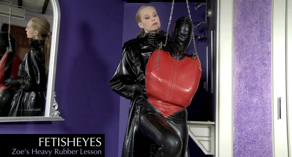 Fetisheyes 'Zoe's Heavy Rubber Lesson' Video by alikatuk