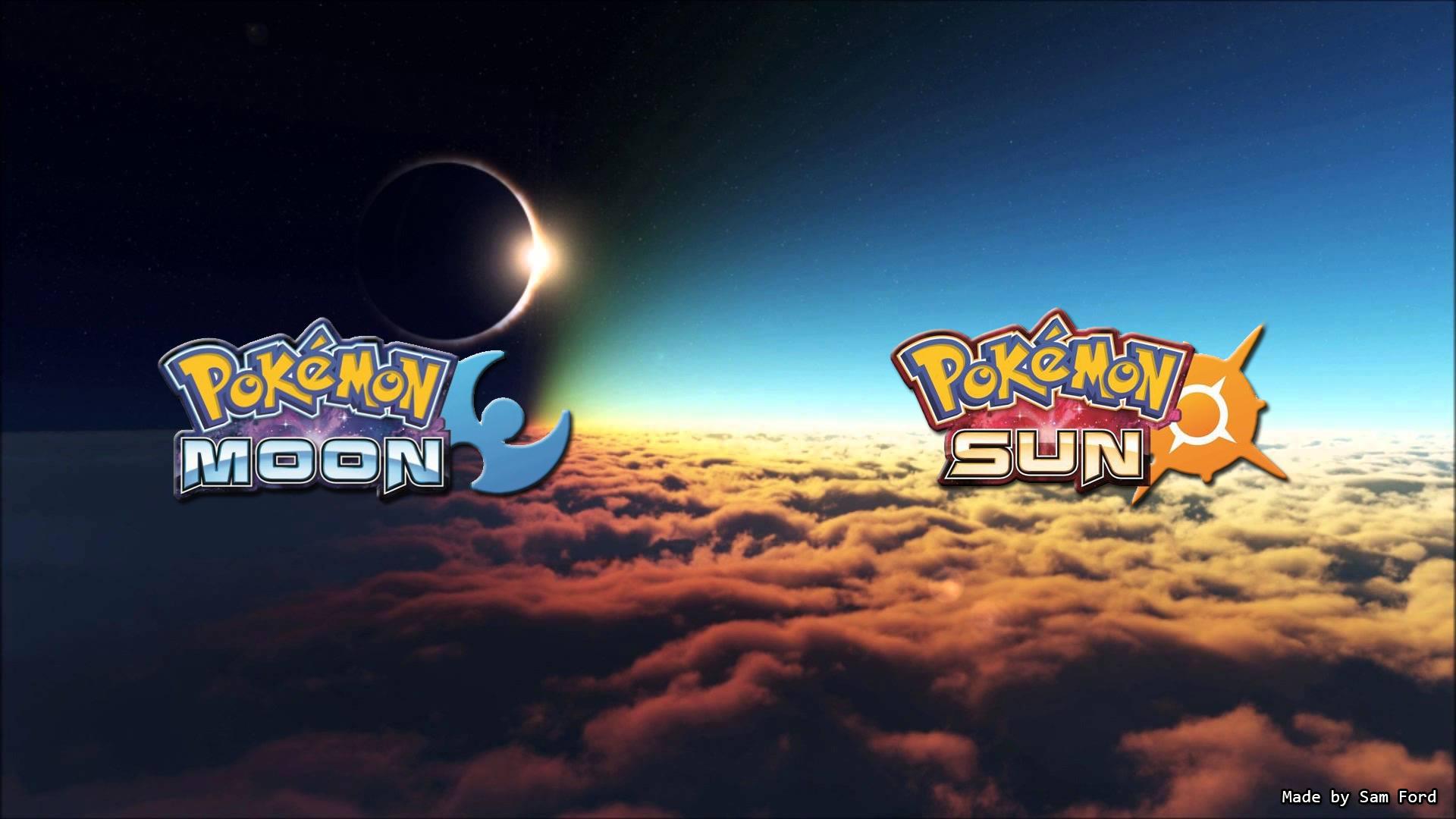Pokemon Sun And Moon Wallpaper: Pokemon Moon And Sun Desktop Wallpaper (Sam Ford) By