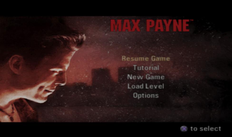 Max Payne Main Menu Playstation 2 Version By