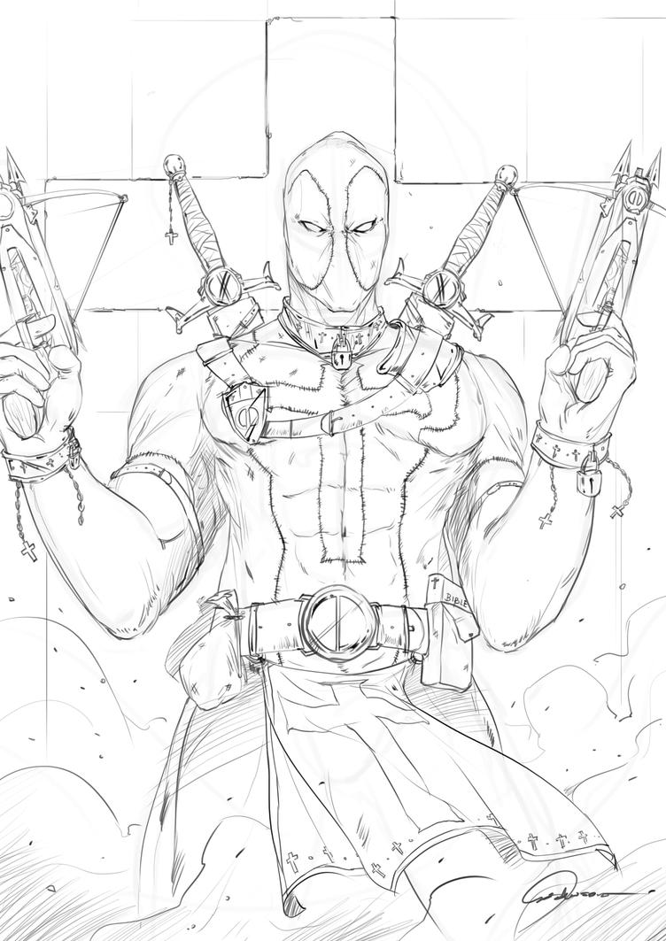 Medieval Deadpool by johnsonting