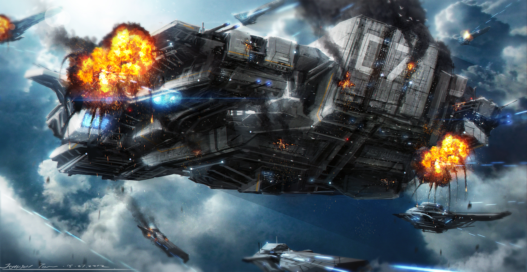 The battle of U.S.S Nautilus by johnsonting