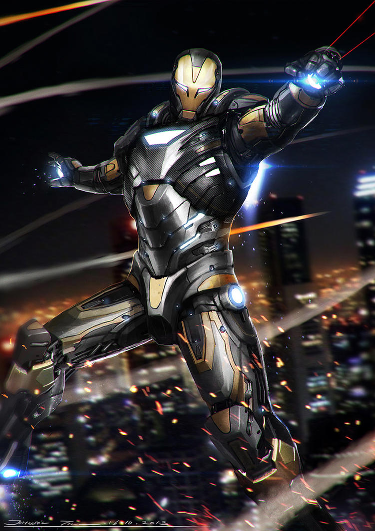 ironman - black and goldjohnsonting on deviantart