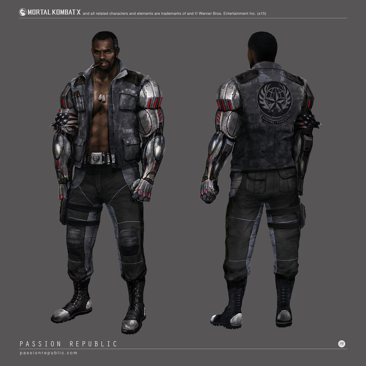 Mortal Kombat X - Jax Concept Art by johnsonting