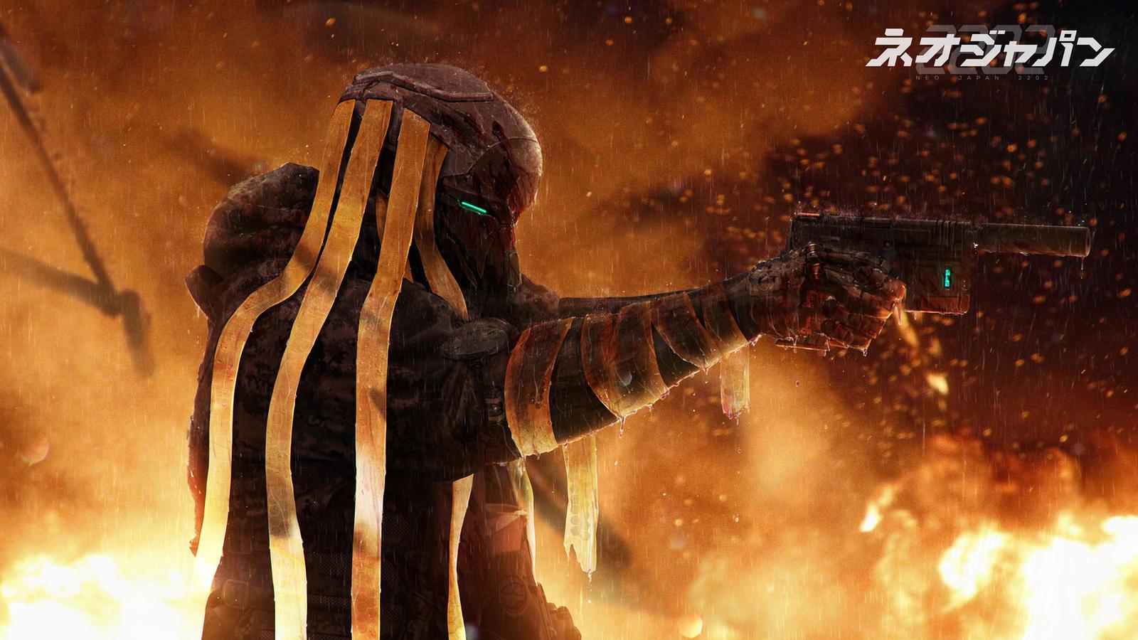 Neo Japan 2202 - Phantom confrontation by johnsonting