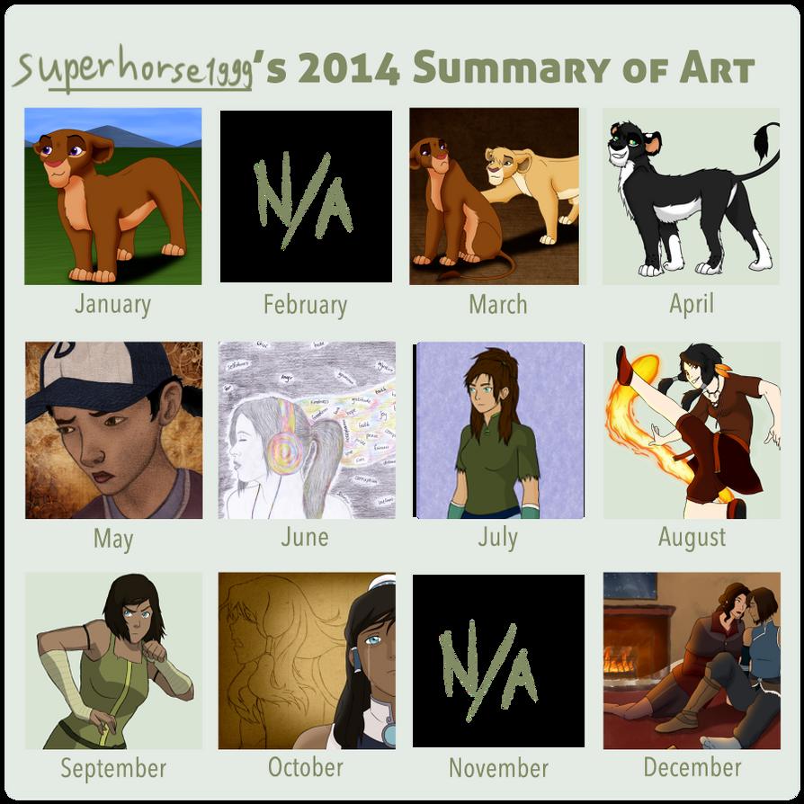 2014 Summary of Art by superhorse1999