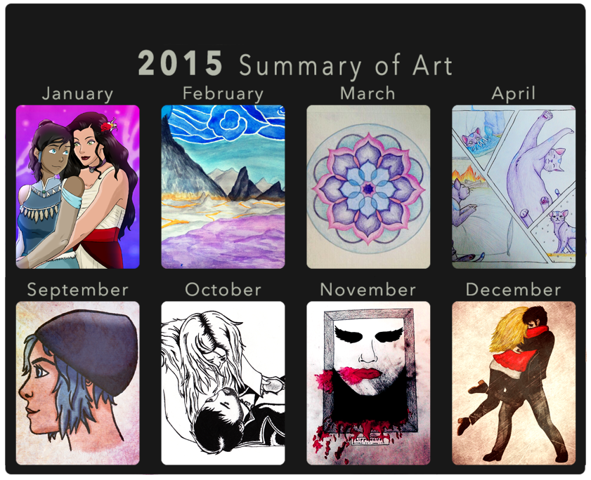 2015 Art Summary by superhorse1999
