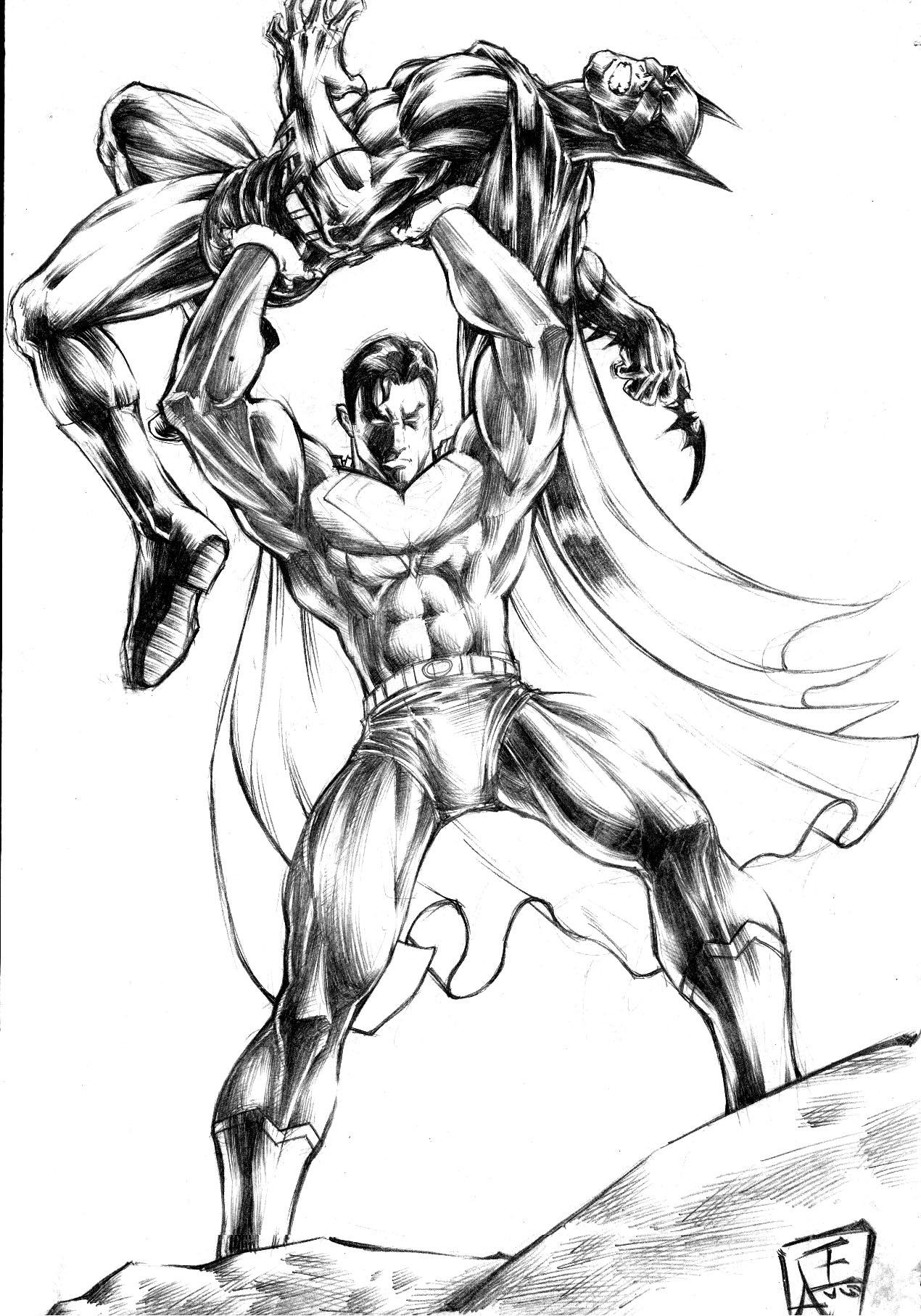 batman vs superman injustice coloring pages | batman vs. superman by omegaseraphx on DeviantArt