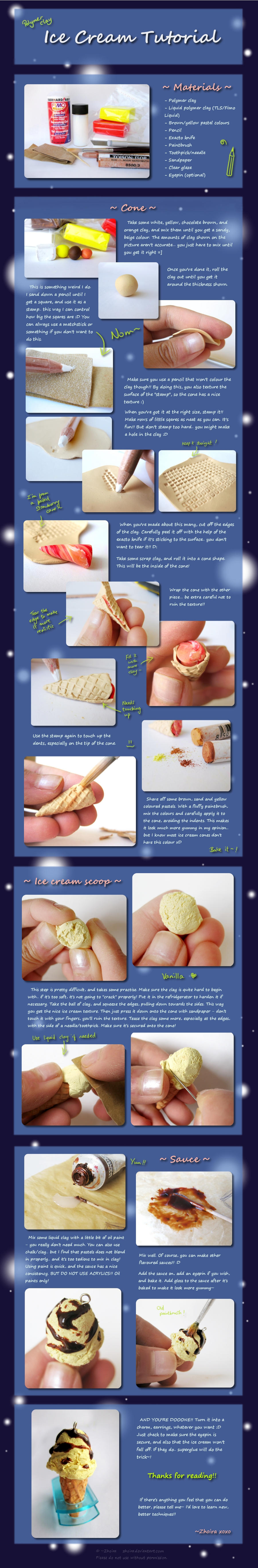 A LOOONG Ice Cream Tutorial by Zhoira