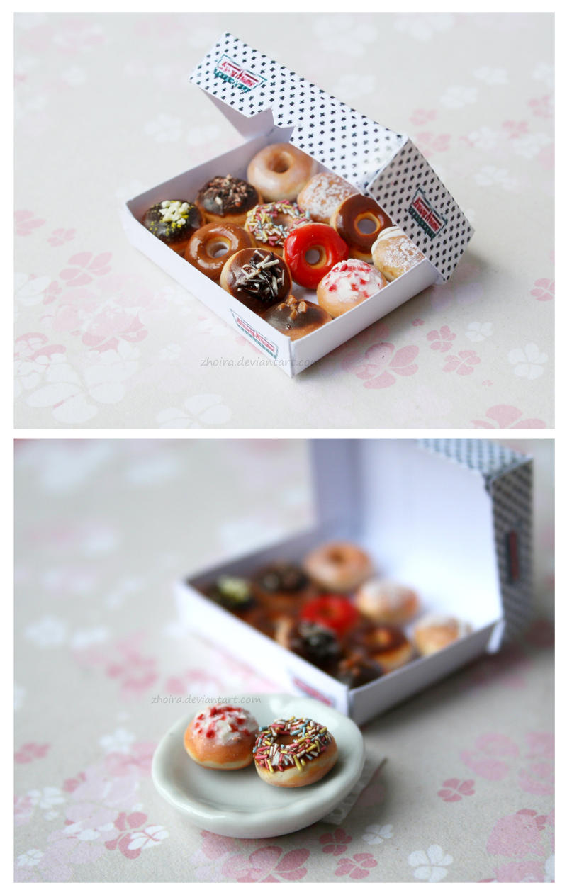 Krispy Kreme Doughnuts by Zhoira