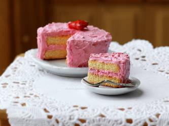 Strawberry Cake by Zhoira