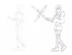 Yuffie Kisaragi Sketch