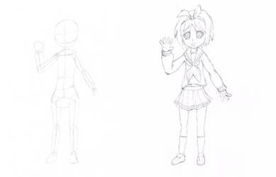 Tsukasa Hiiragi Sketch