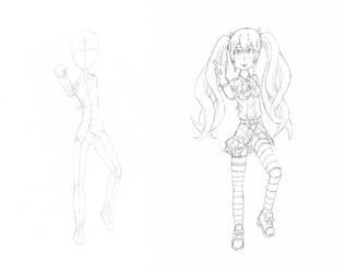 Rin Tokikaze Sketch