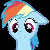 cute Rainbow Dash by BaumkuchenPony