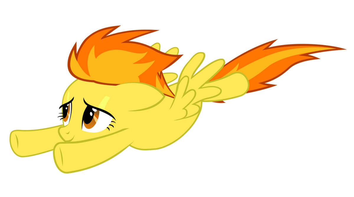 Spitfire flying suitless by BaumkuchenPony on DeviantArt