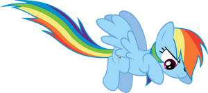 jumping Rainbow Dash by BaumkuchenPony