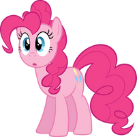 surprised Pinkie Pie by BaumkuchenPony