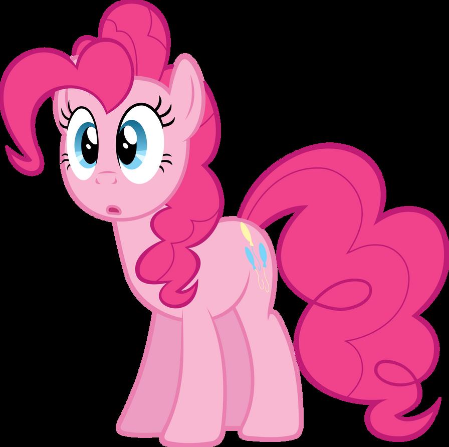 surprised Pinkie Pie by BaumkuchenPony