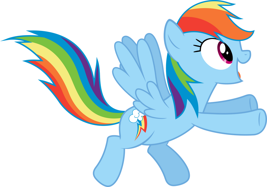 excited rainbow dash by baumkuchenpony on deviantart