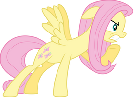 Angry Fluttershy by BaumkuchenPony