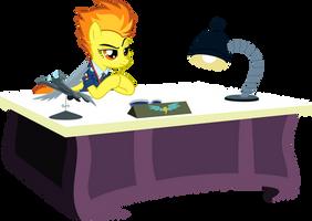 Spitfire at her desk by BaumkuchenPony