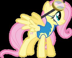 Cadet Fluttershy by BaumkuchenPony