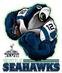 Super Bowl XLVIII-SEATTLE SEAHAWKS by Epoole88