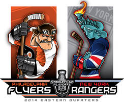 2014 NHL Playoffs Rd 1 Flyers vs Rangers by Epoole88