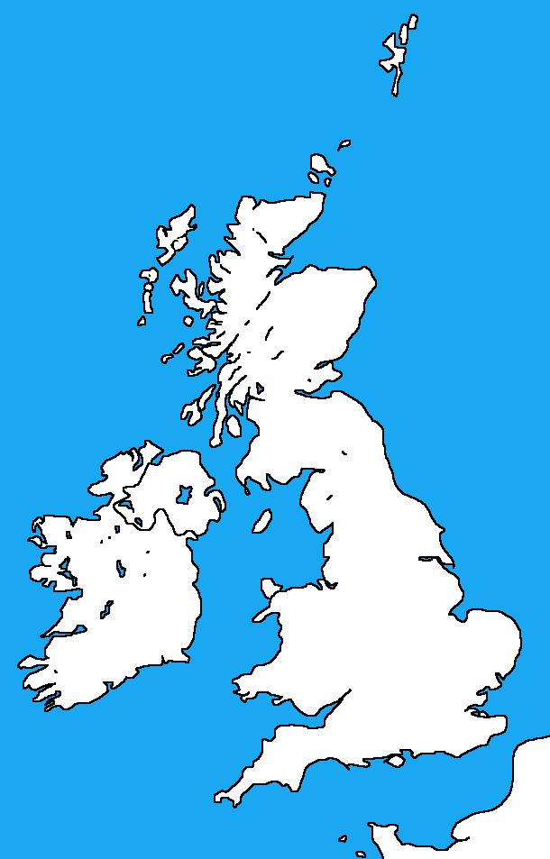 Blank map of the British isles by DinoSpain on DeviantArt