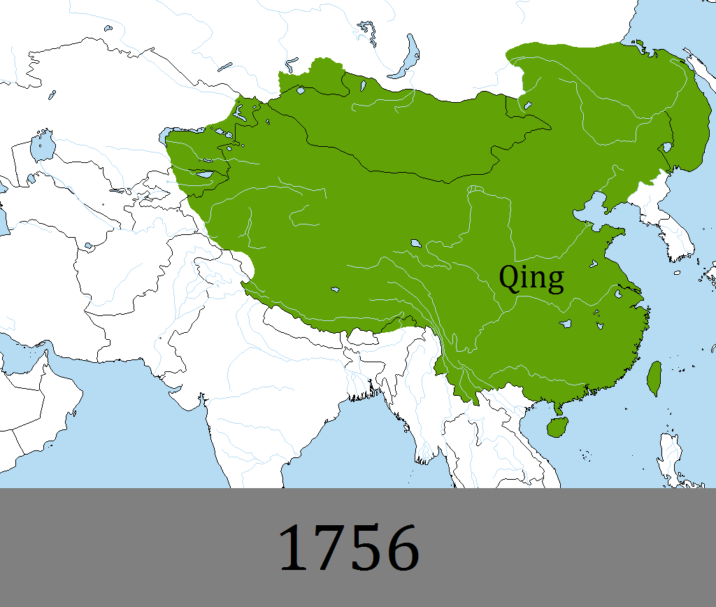Qing dynasty at it's height by DinoSpain on DeviantArt