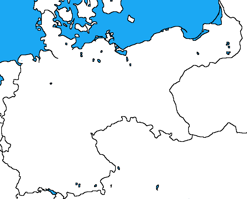 Blank Map Of The German Empire By DinoSpain ...