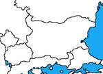 Blank map of Bulgaria