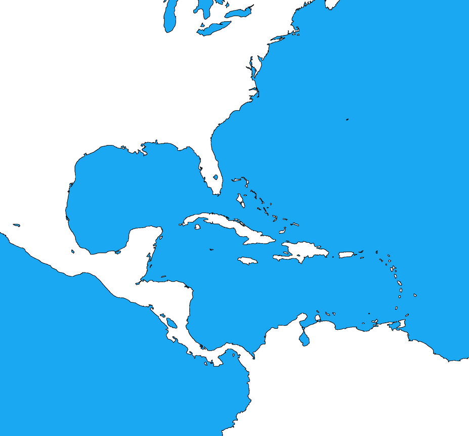 Blank map of the Caribbean by DinoSpain on DeviantArt